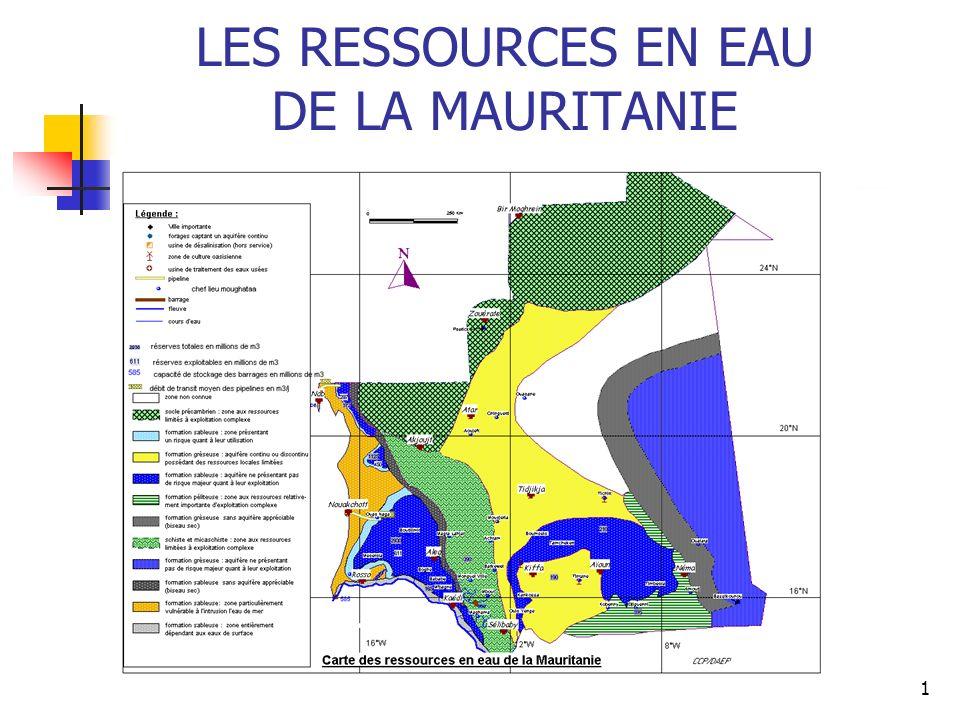 LES RESSOURCES EN EAU DE LA MAURITANIE