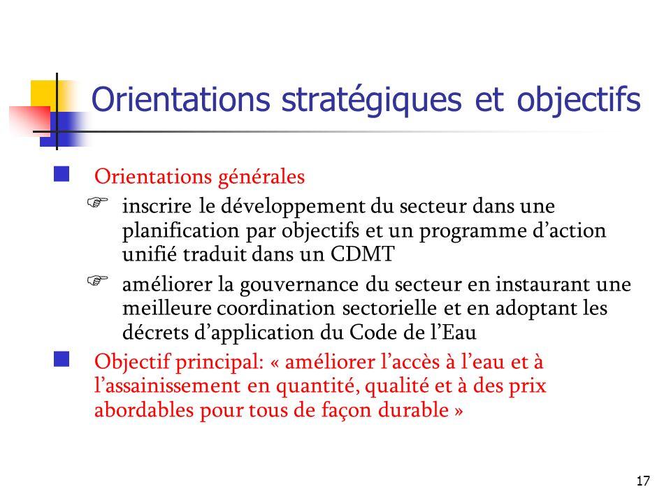 Orientations stratégiques et objectifs