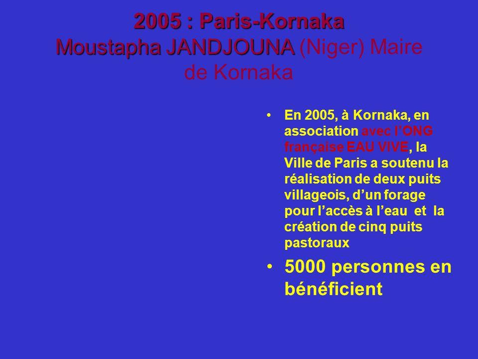 2005 : Paris-Kornaka Moustapha JANDJOUNA (Niger) Maire de Kornaka
