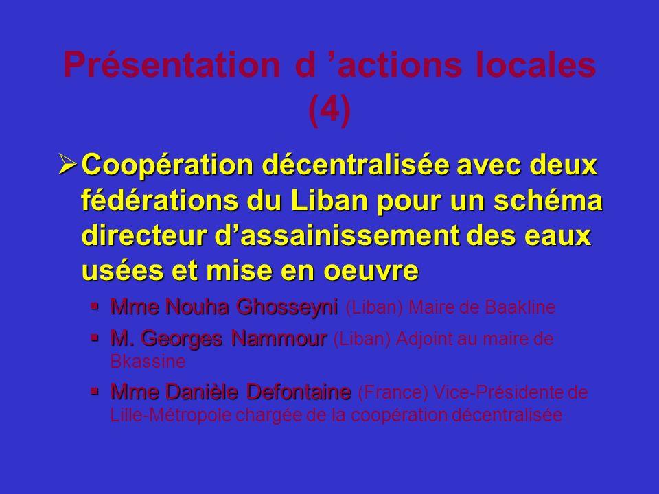 Présentation d 'actions locales (4)