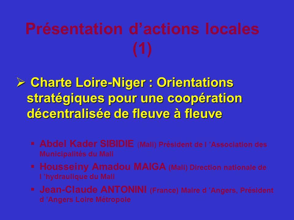Présentation d'actions locales (1)
