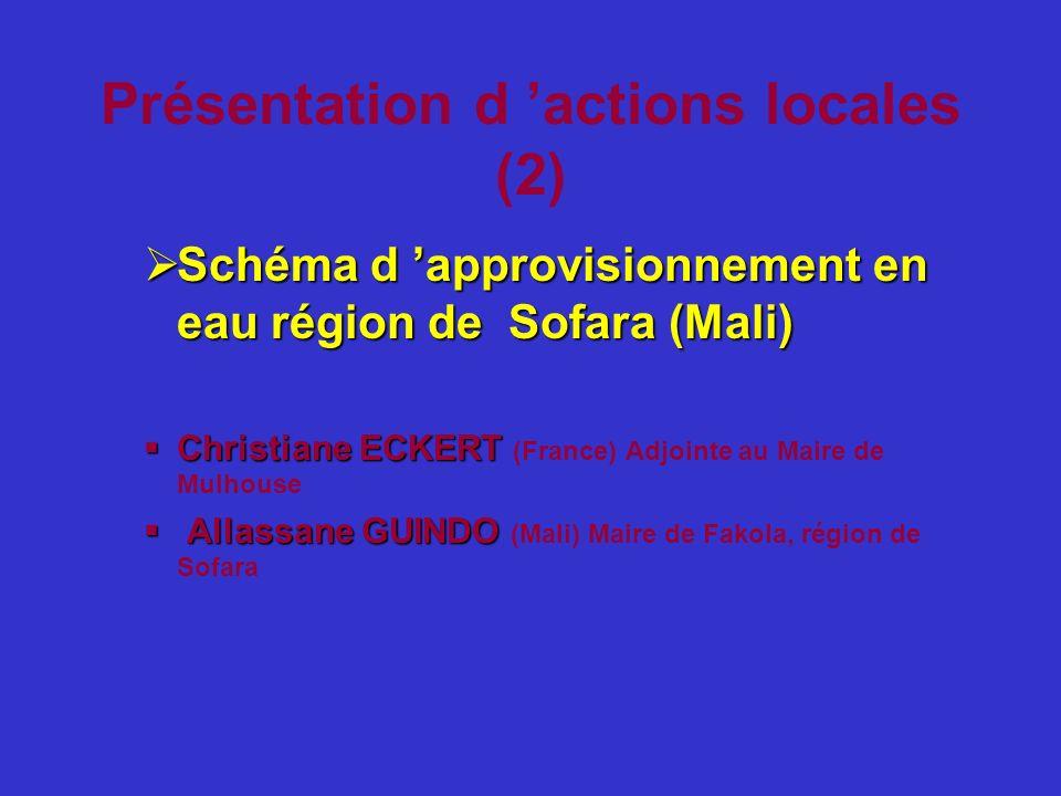 Présentation d 'actions locales (2)