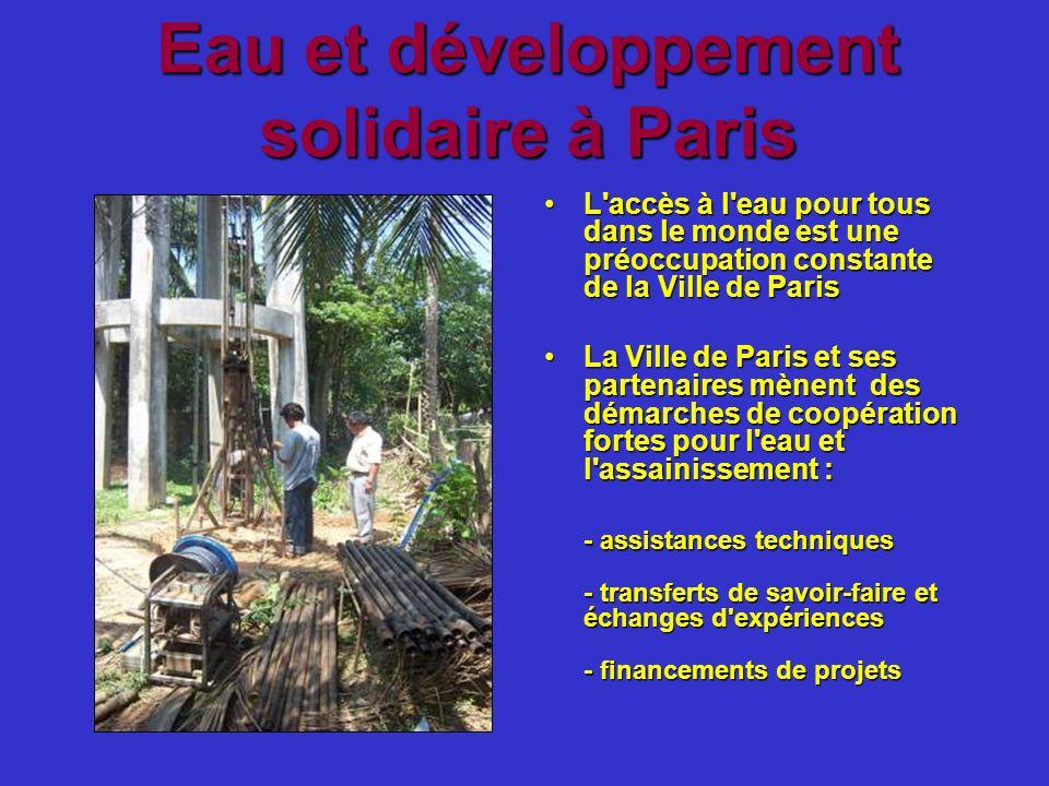 Eau et développement solidaire à Paris