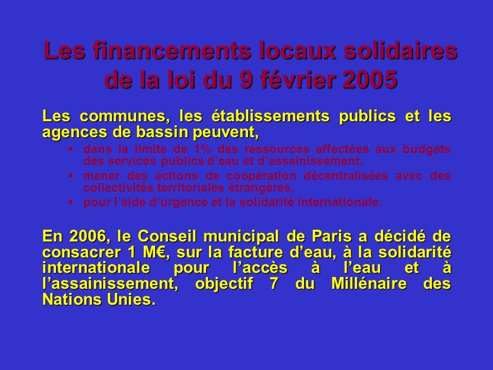 Les financements locaux solidaires de la loi du 9 février 2005