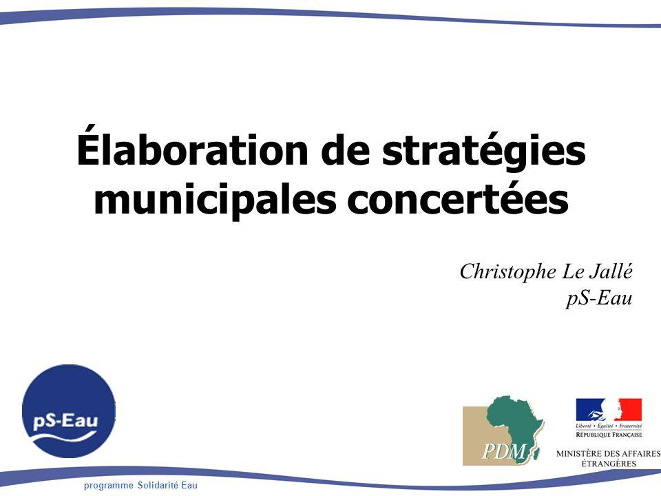 Élaboration de stratégies municipales concertées