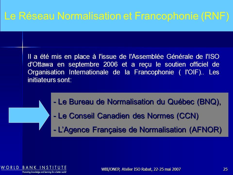 Le Réseau Normalisation et Francophonie (RNF)