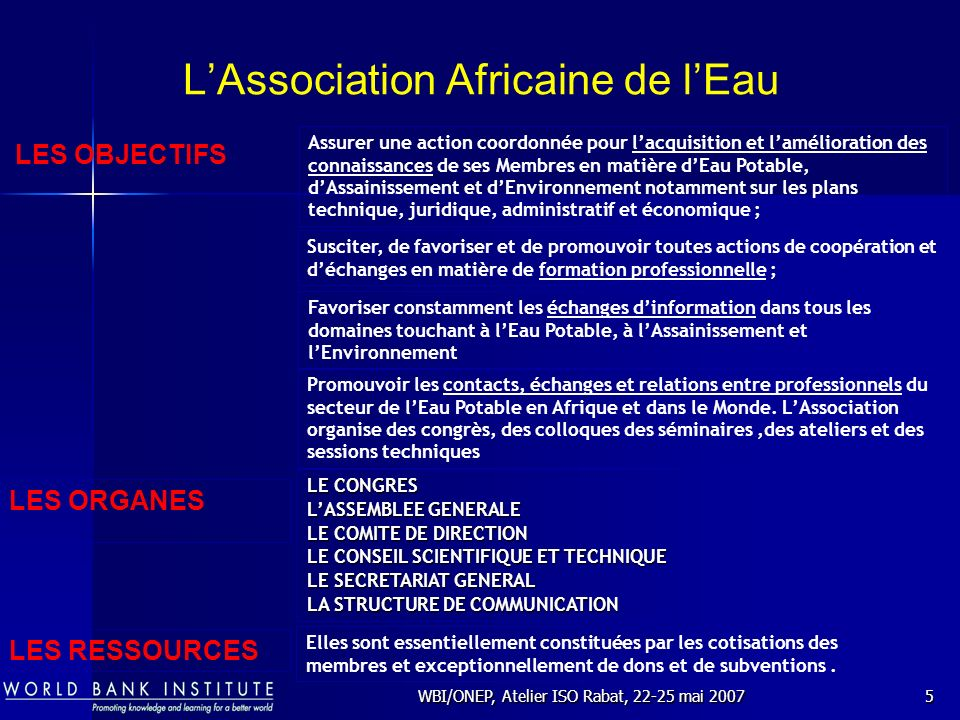 L'Association Africaine de l'Eau