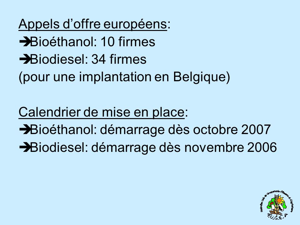 Appels d'offre européens: