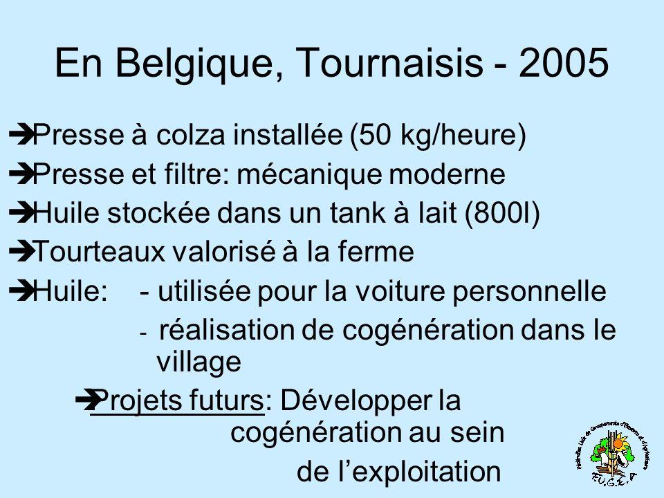 En Belgique, Tournaisis - 2005