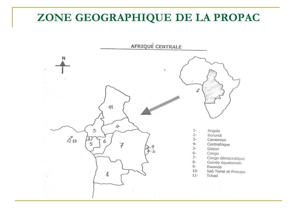 ZONE GEOGRAPHIQUE DE LA PROPAC