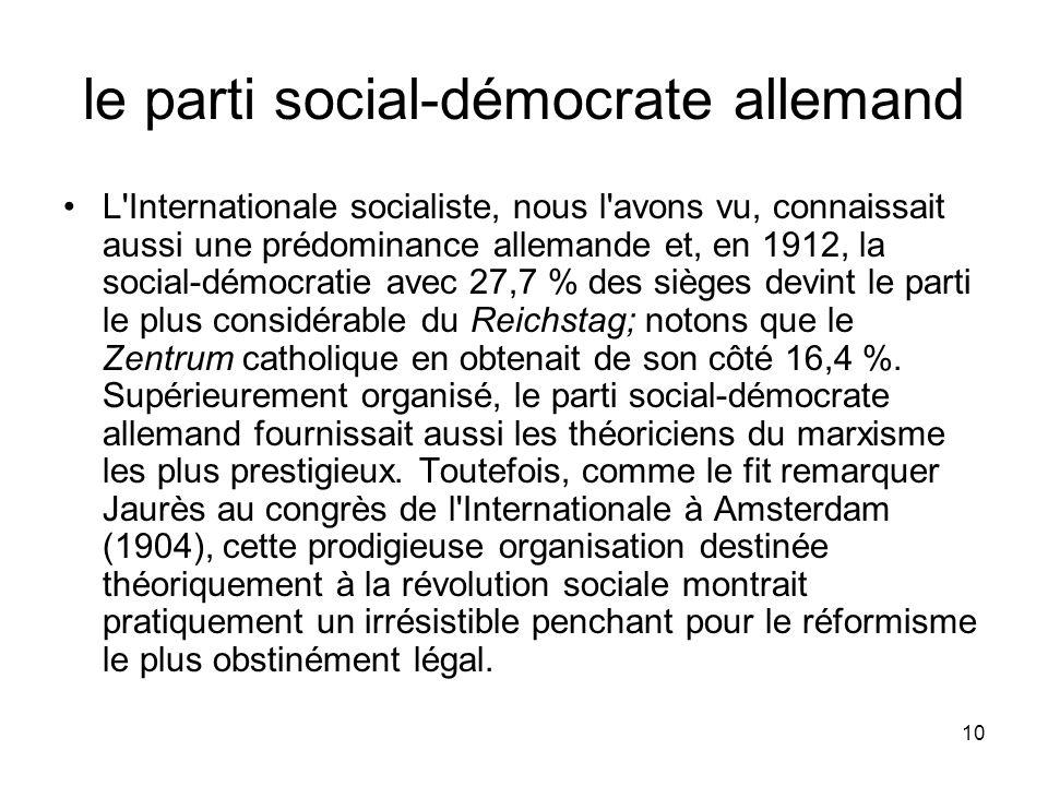 le parti social-démocrate allemand
