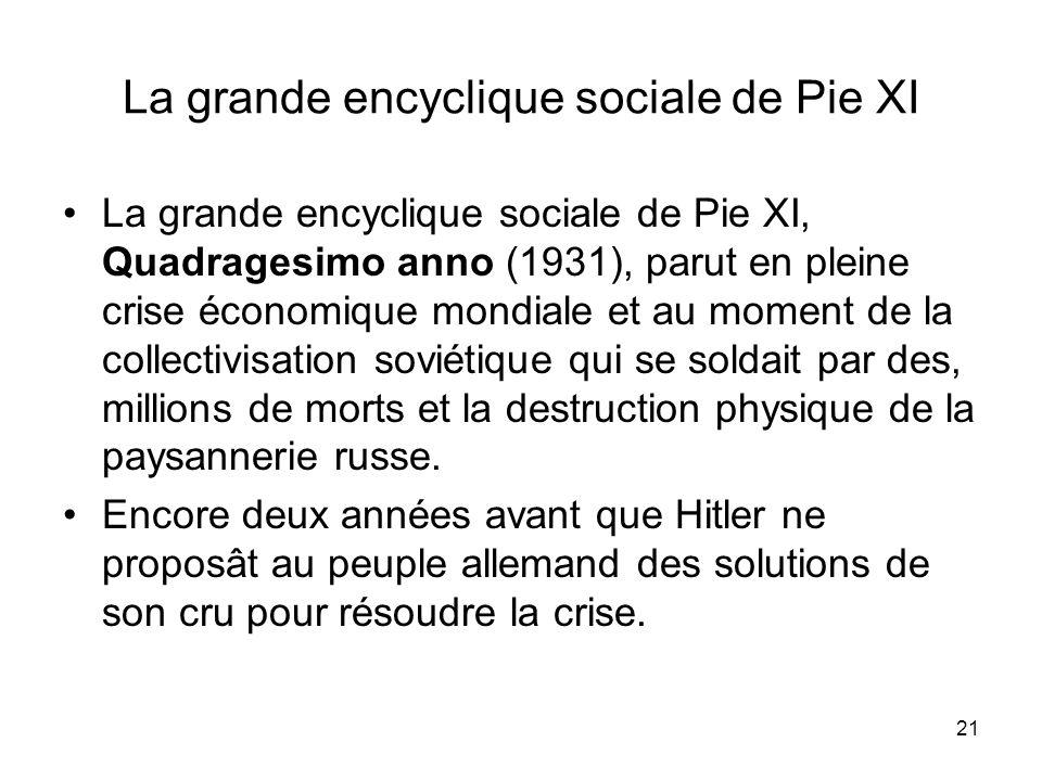 La grande encyclique sociale de Pie XI