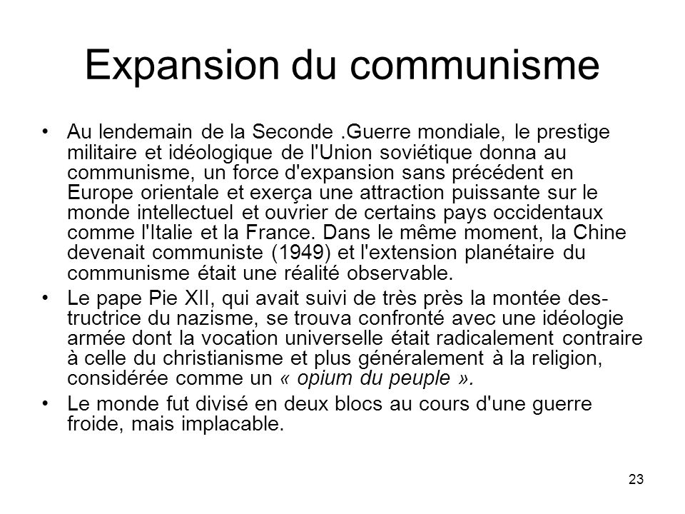 Expansion du communisme