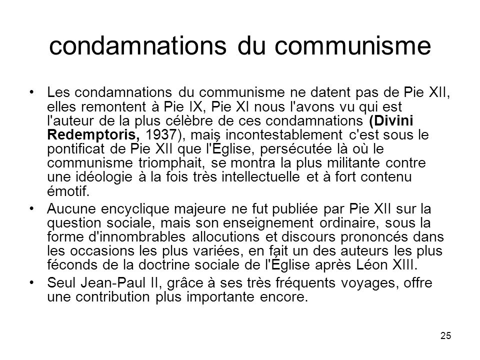 condamnations du communisme