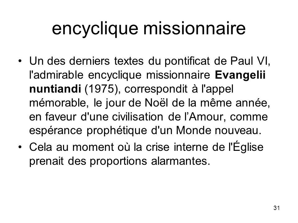 encyclique missionnaire