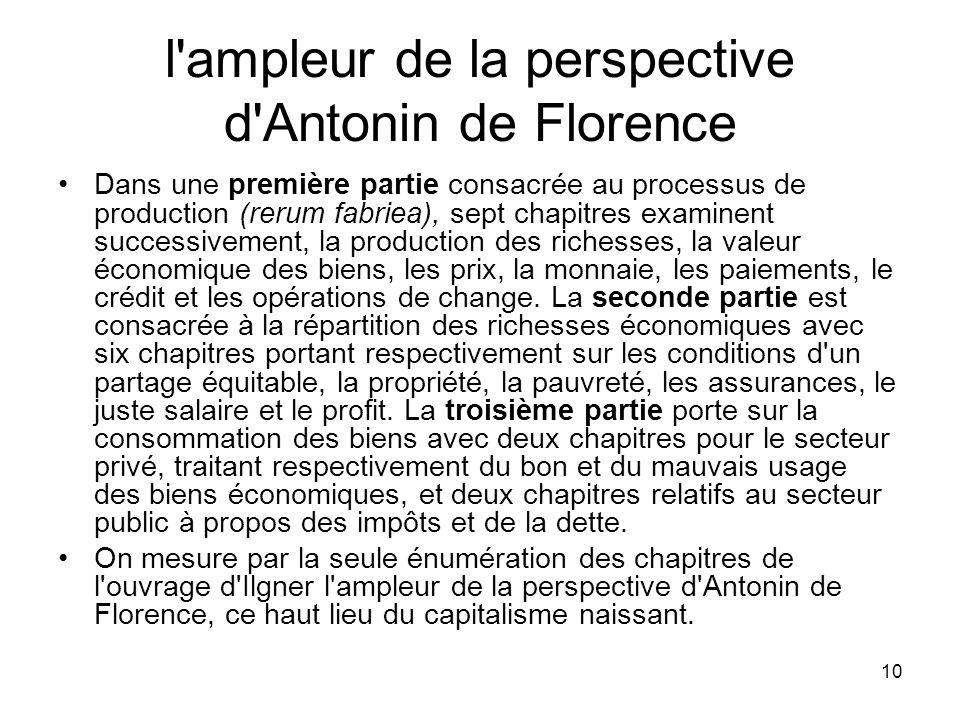 l ampleur de la perspective d Antonin de Florence