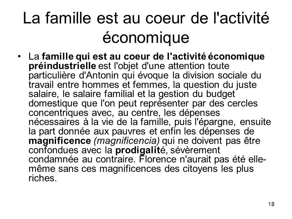 La famille est au coeur de l activité économique