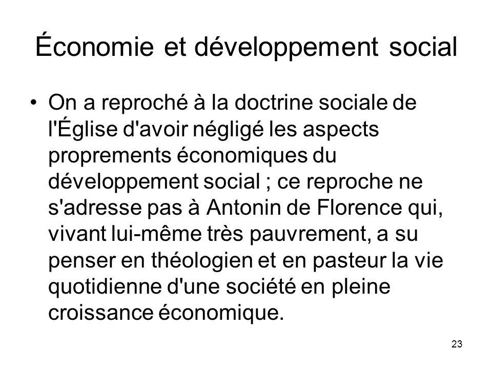 Économie et développement social
