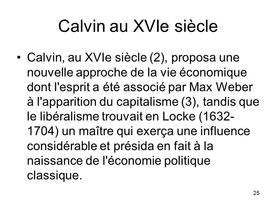 Calvin au XVIe siècle