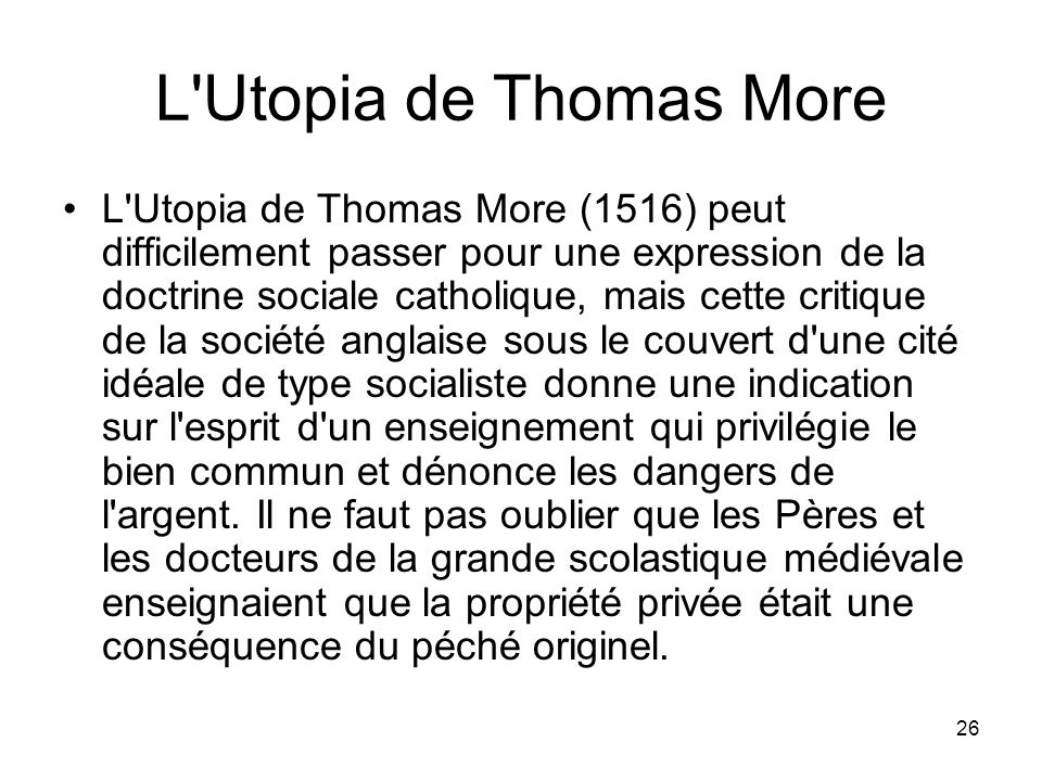 L Utopia de Thomas More