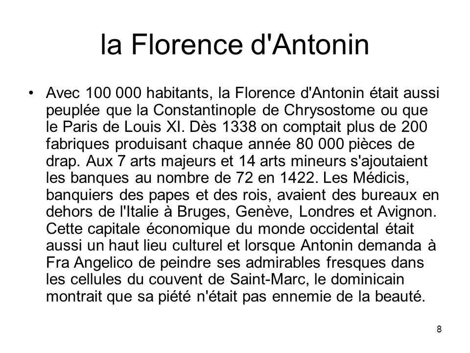 la Florence d Antonin