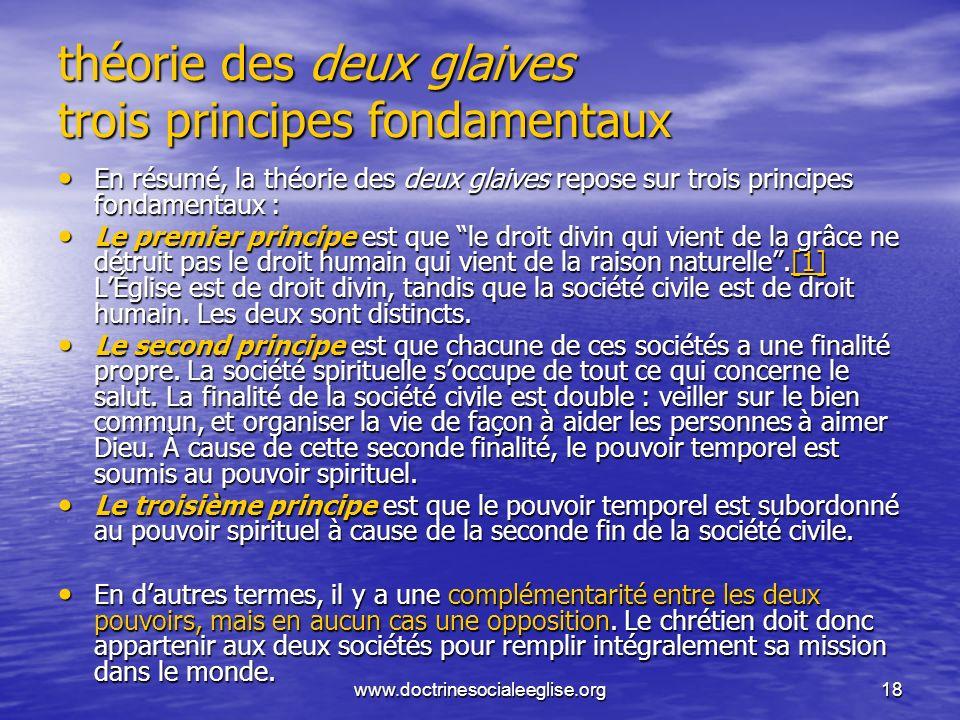 théorie des deux glaives trois principes fondamentaux