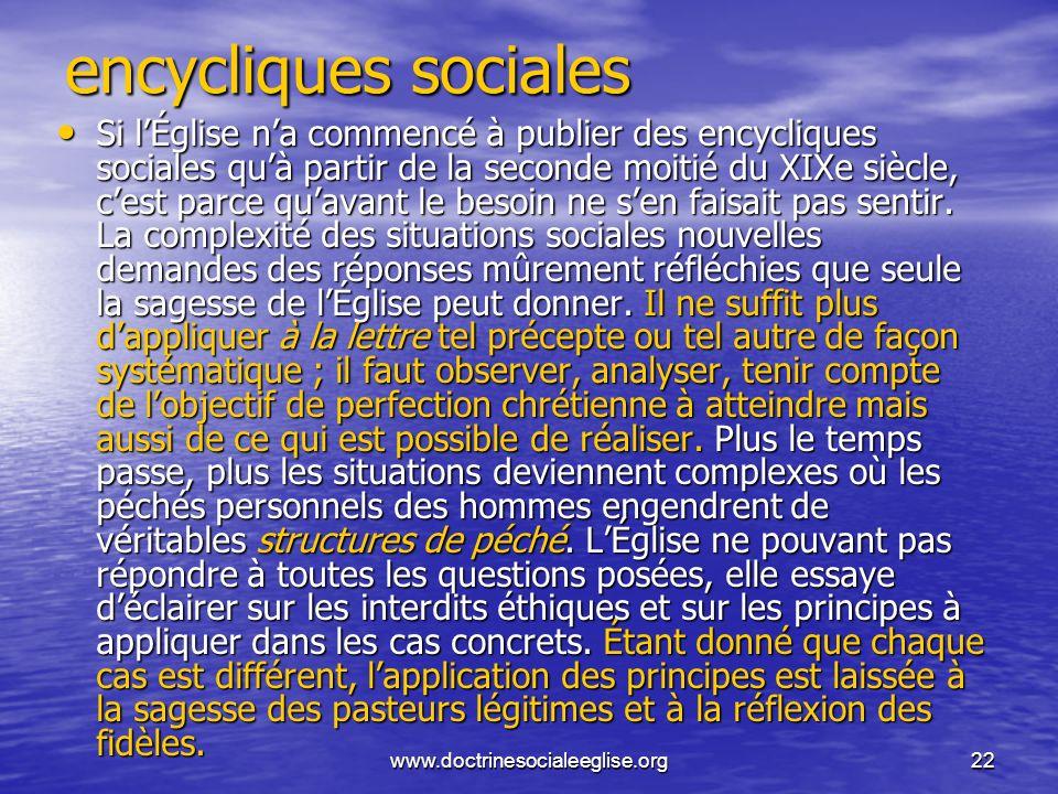 encycliques sociales