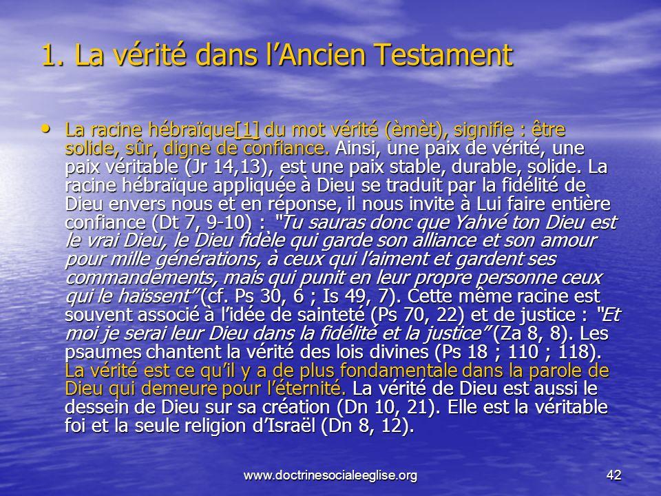 1. La vérité dans l'Ancien Testament