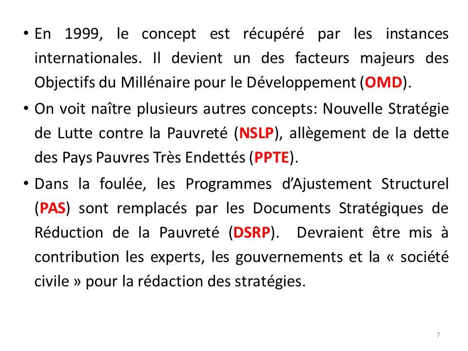 En 1999, le concept est récupéré par les instances internationales
