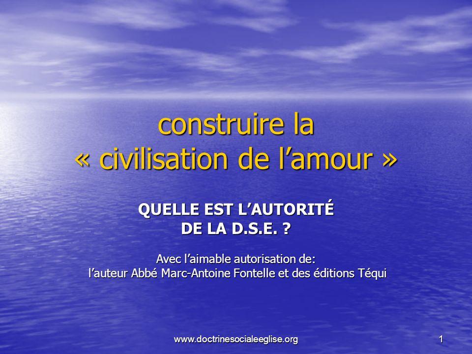 construire la « civilisation de l'amour »