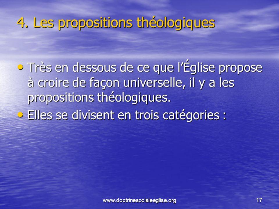 4. Les propositions théologiques
