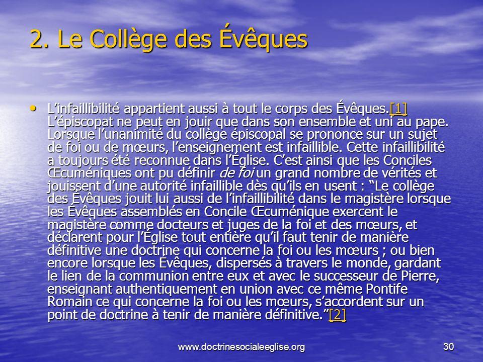 2. Le Collège des Évêques
