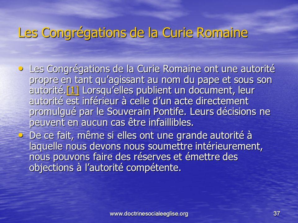 Les Congrégations de la Curie Romaine