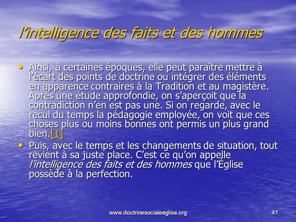 l'intelligence des faits et des hommes