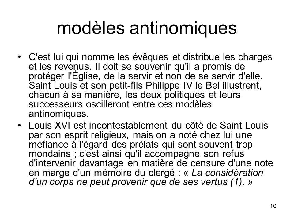 modèles antinomiques