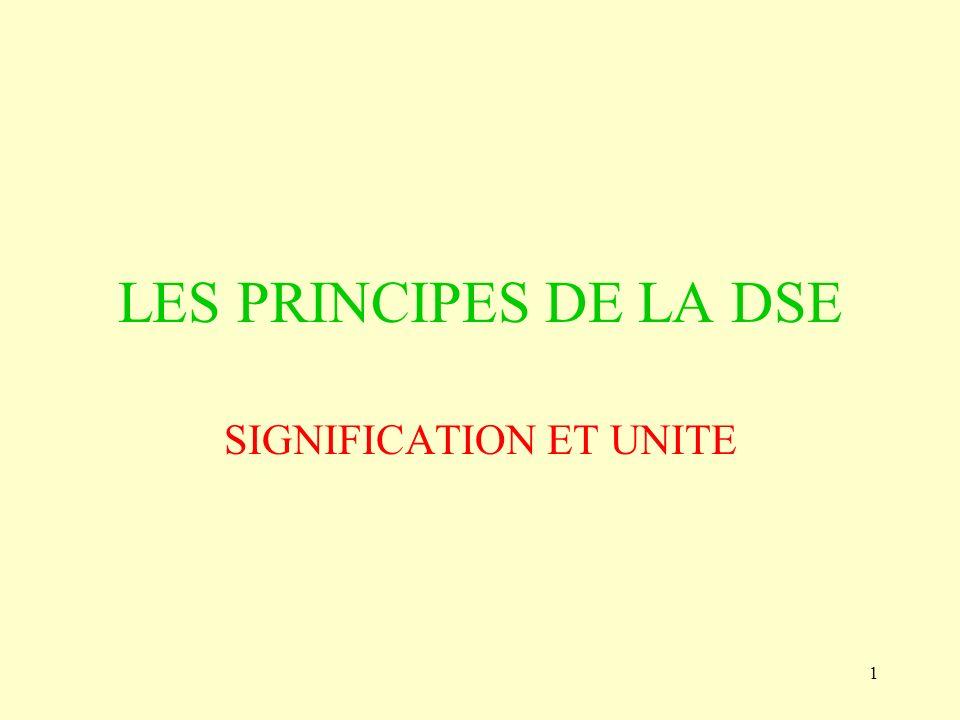 SIGNIFICATION ET UNITE