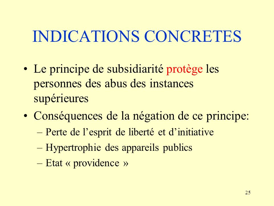 INDICATIONS CONCRETES