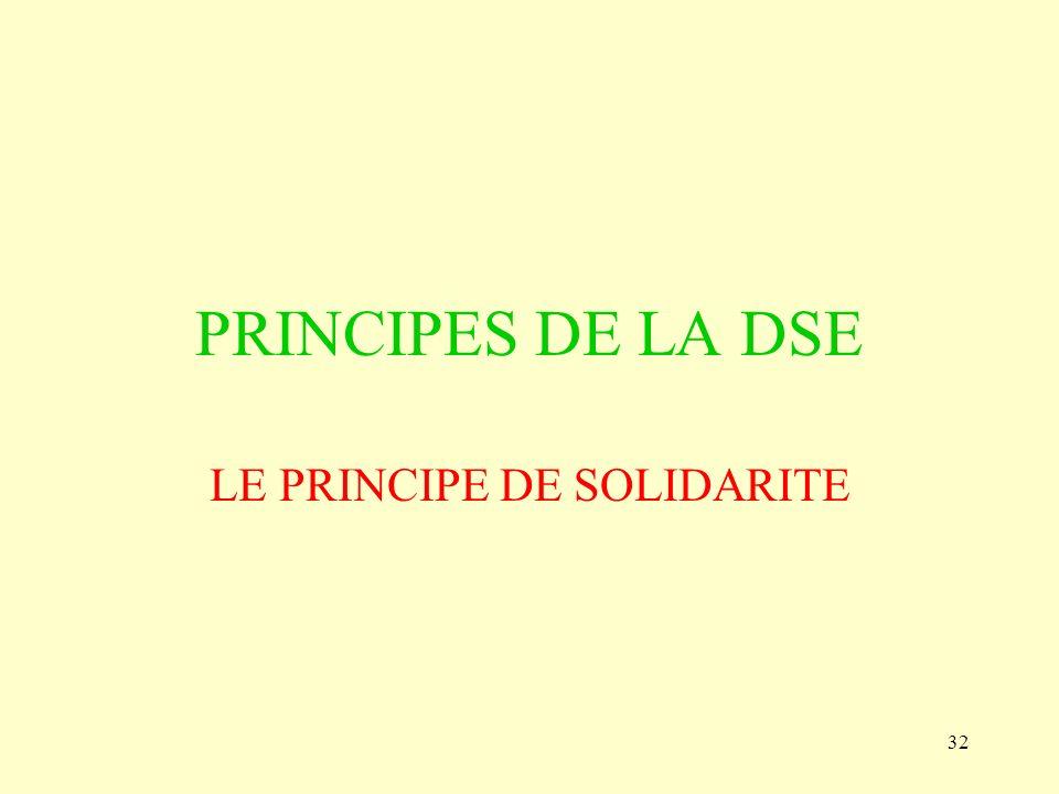 LE PRINCIPE DE SOLIDARITE