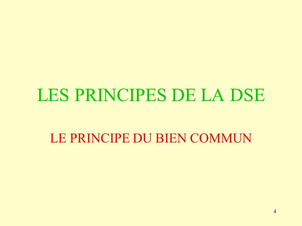 LE PRINCIPE DU BIEN COMMUN