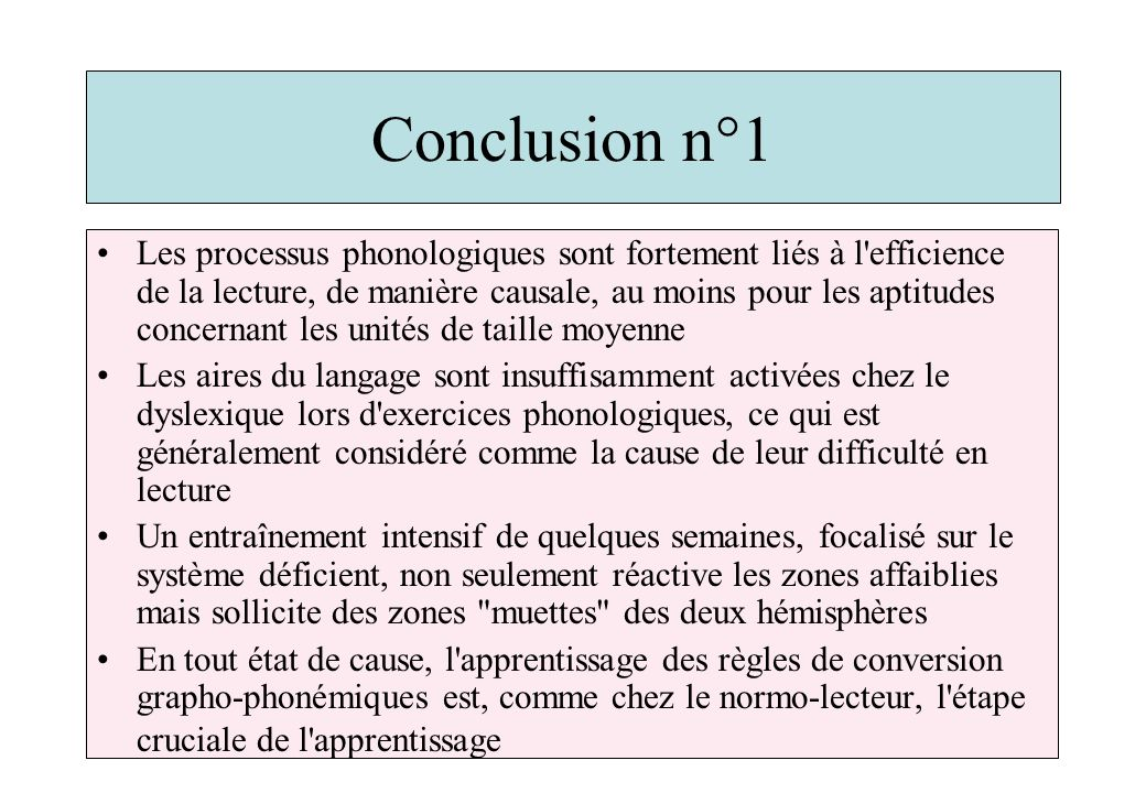 Conclusion n°1
