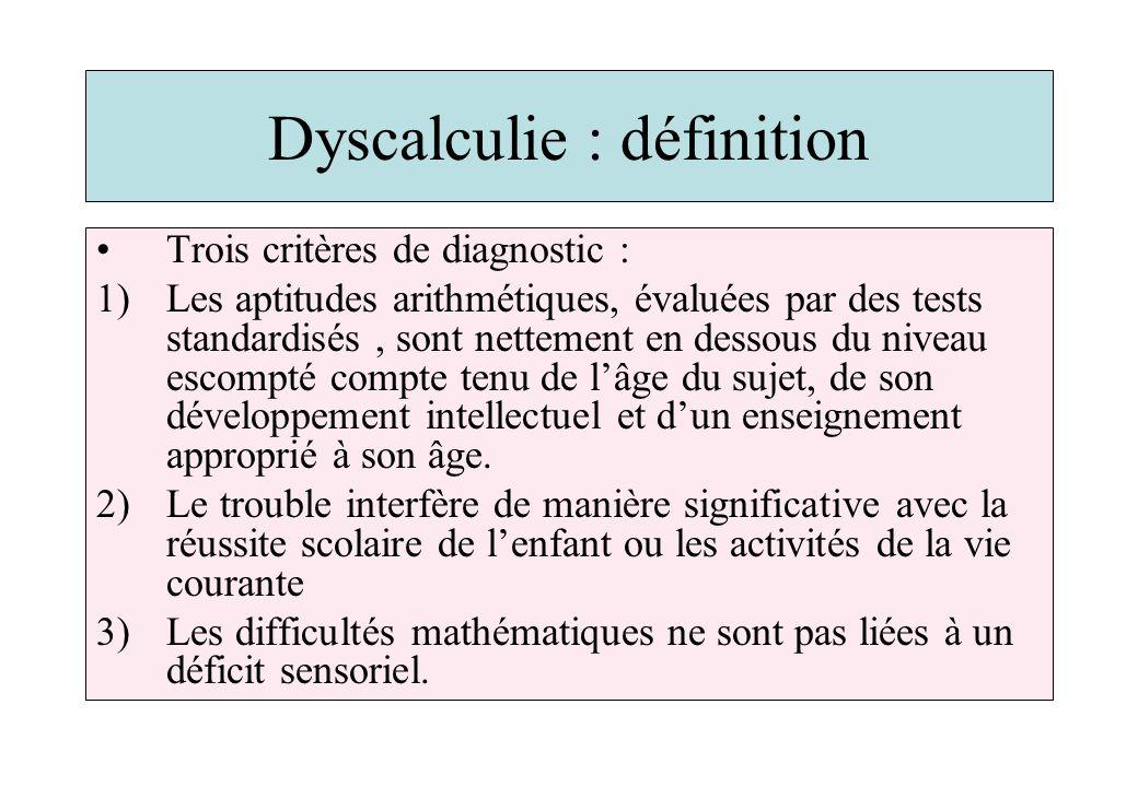 Dyscalculie : définition