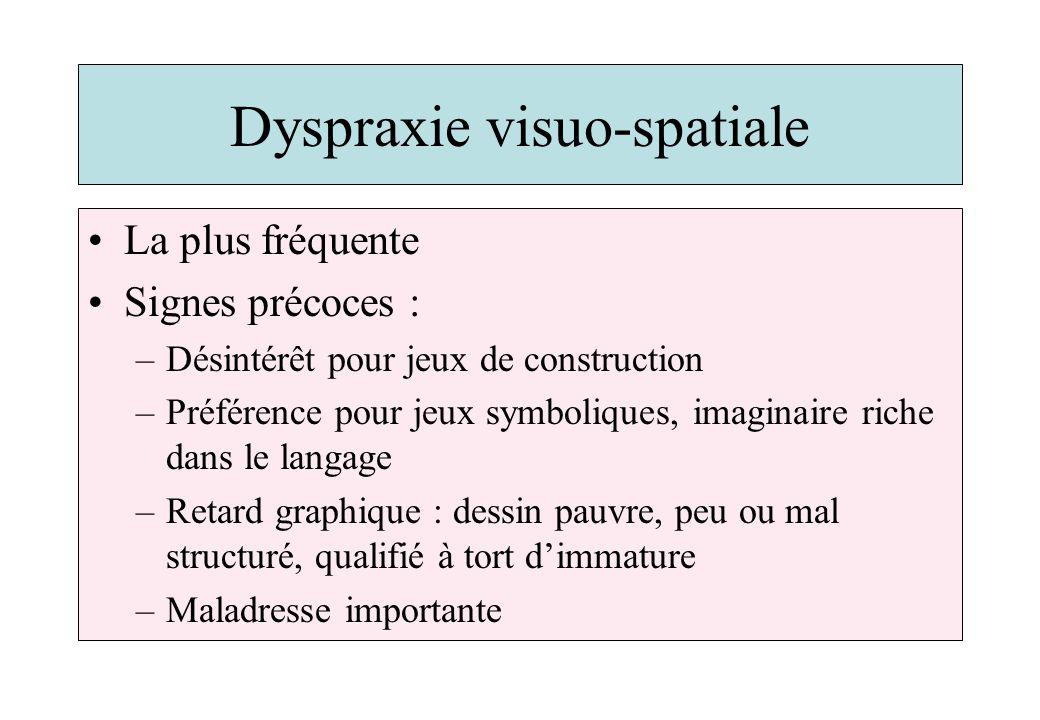 Dyspraxie visuo-spatiale