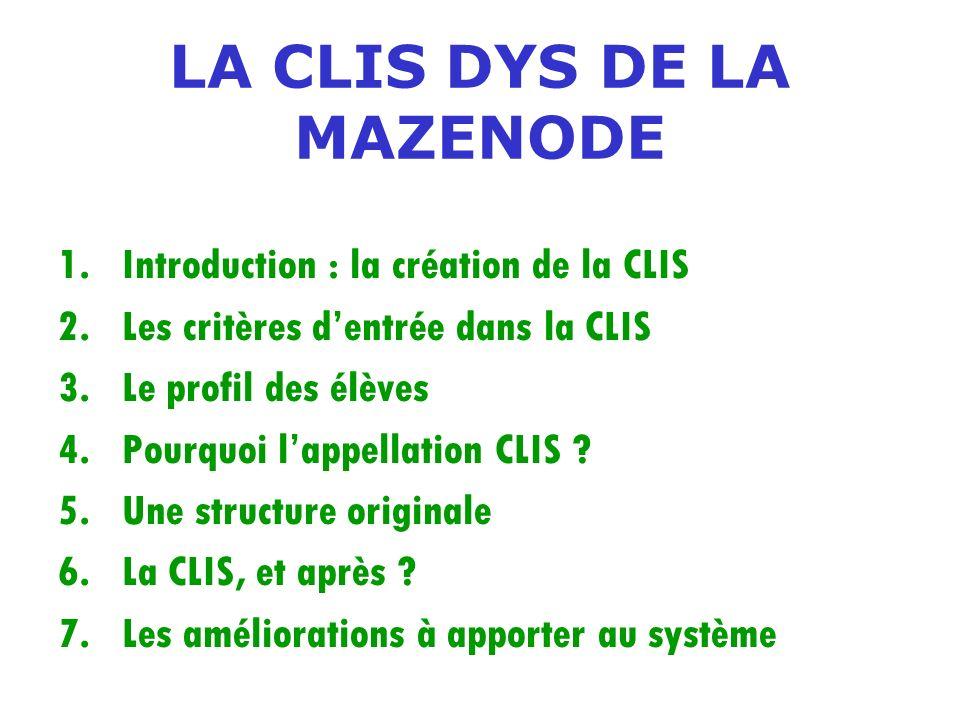 LA CLIS DYS DE LA MAZENODE