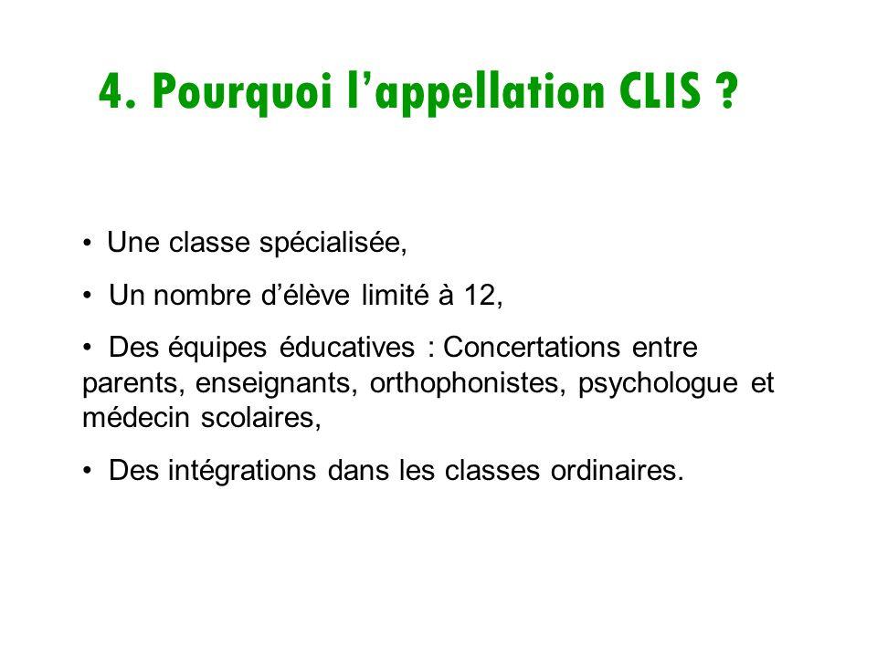 4. Pourquoi l'appellation CLIS