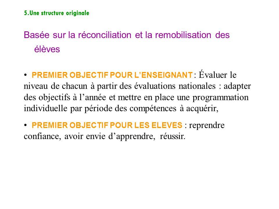 Basée sur la réconciliation et la remobilisation des élèves
