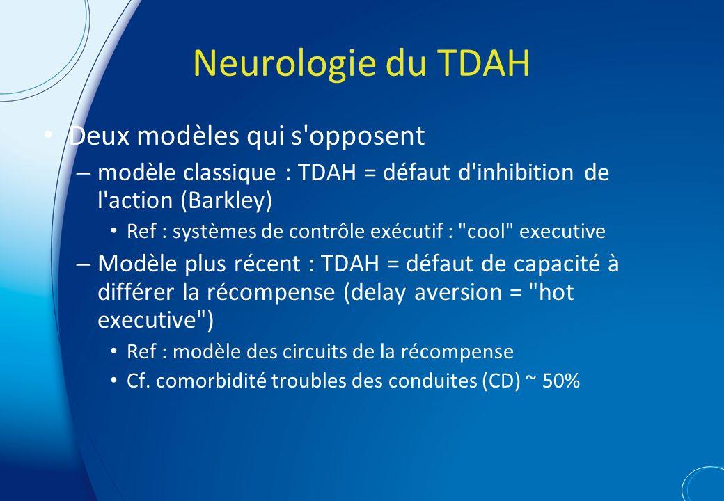 Neurologie du TDAH Deux modèles qui s opposent