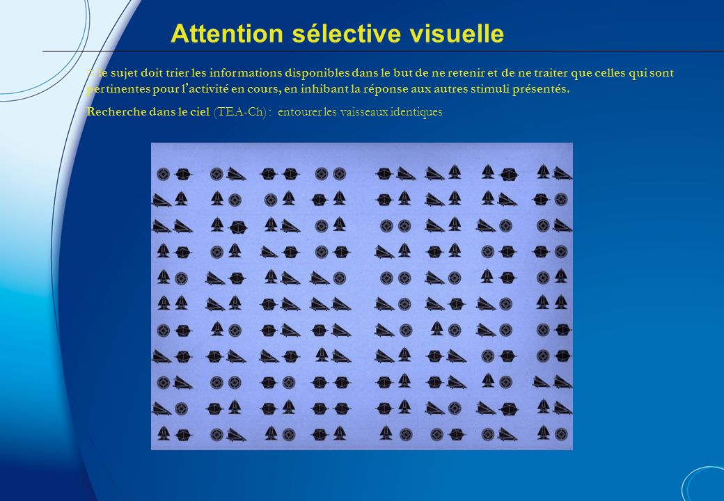 Attention sélective visuelle