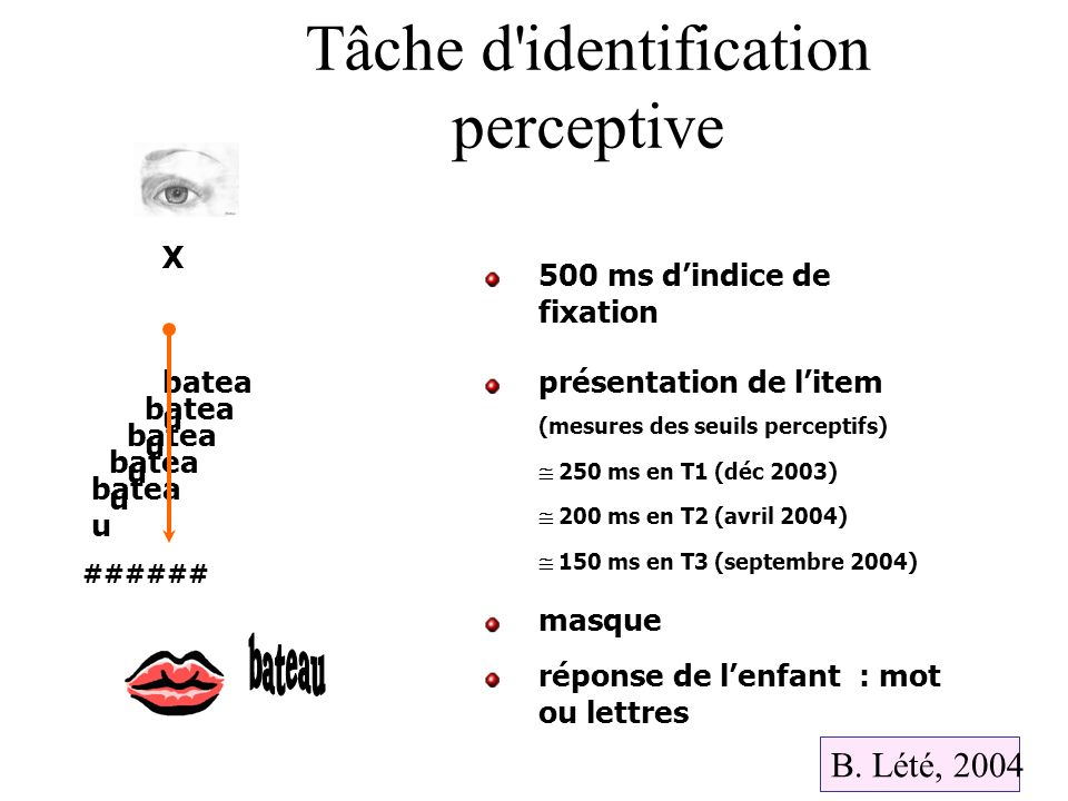 Tâche d identification perceptive