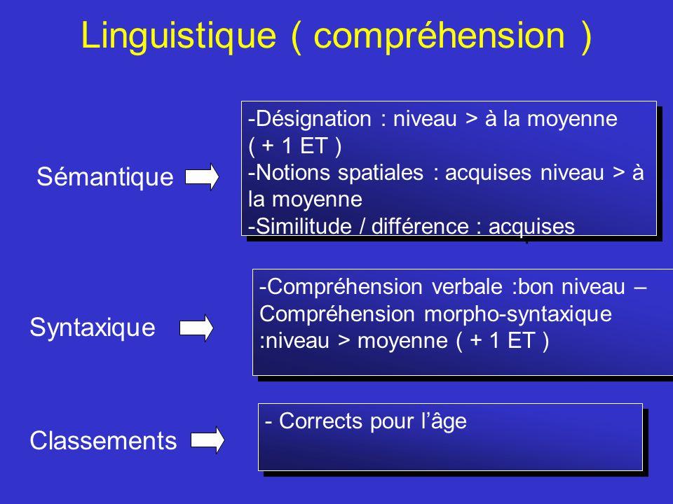 Linguistique ( compréhension )