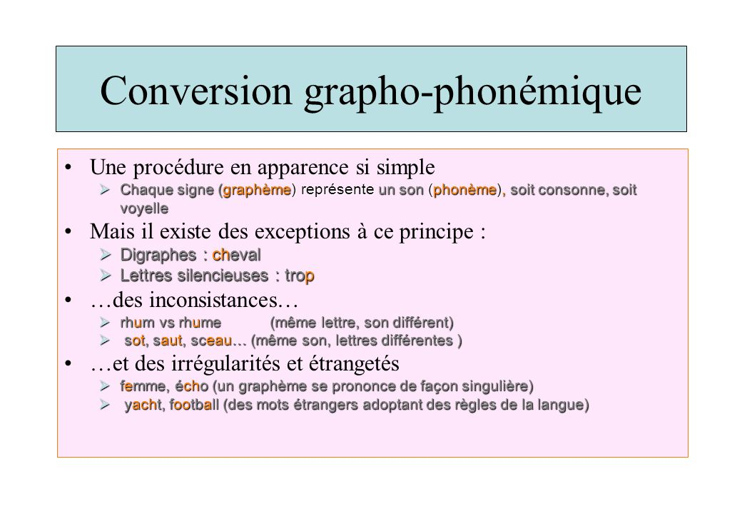 Conversion grapho-phonémique